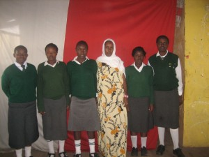 A group photo of some of the school girls we are working with.